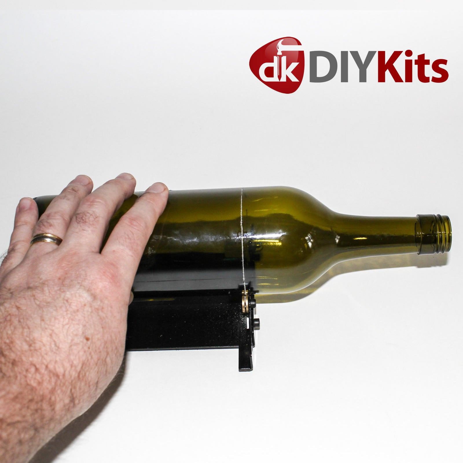 Glass bottle cutter kit includes sandpaper and corona for How to make corona glasses