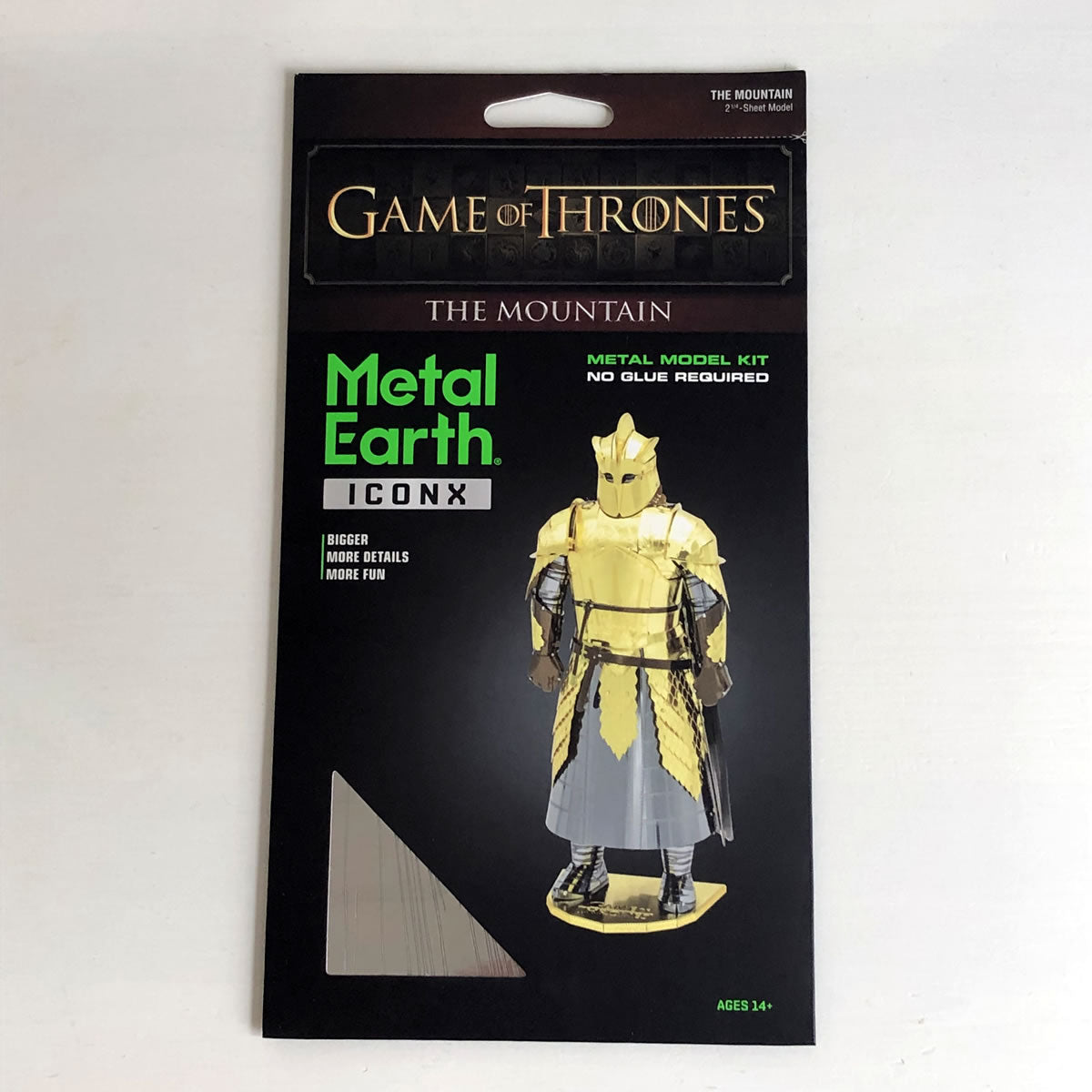 Metal Earth Game of Thrones The Mountain iconx Metal Model Kit