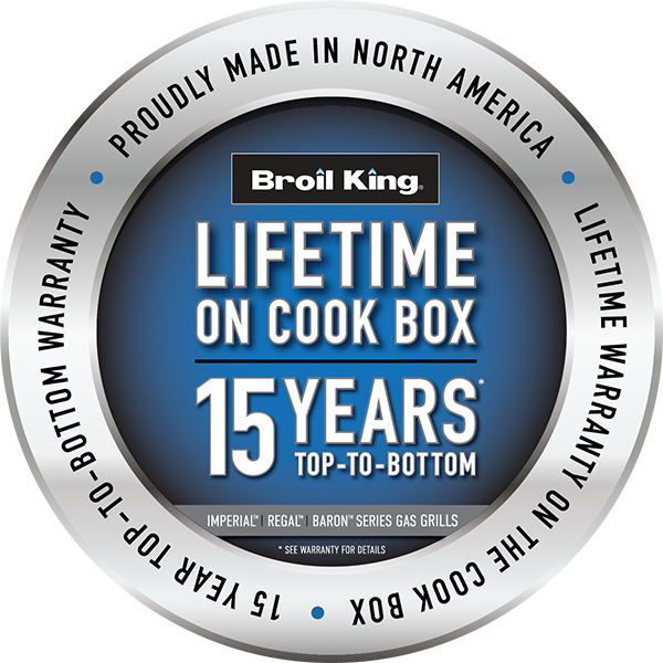Broil King 15 Year Top to Bottom Warranty