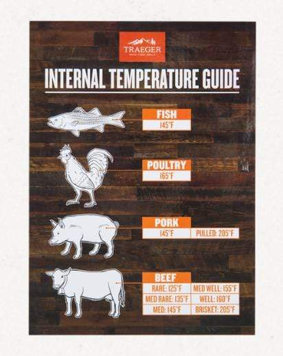 Traeger Internal Temperature Guide Magnet - BAC462 - Chadwicks & Hacks, Hamilton Ontario