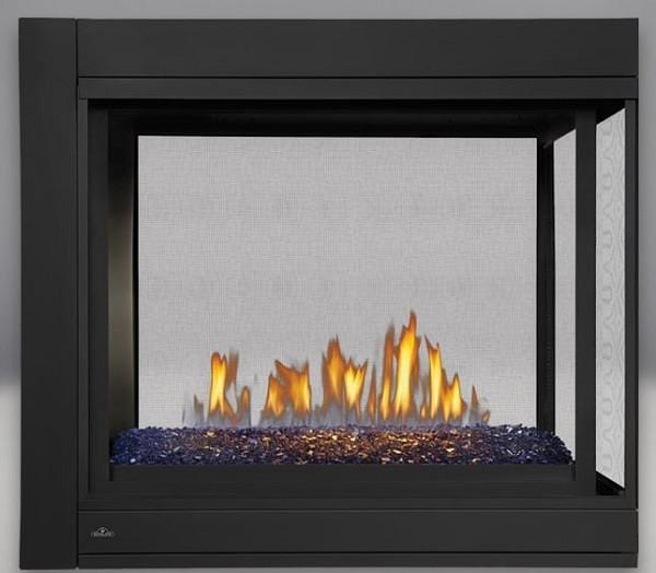 Napoleon Ascent Multi-View Direct-Vent Fireplace Peninsula w/ Glass - Chadwicks & Hacks, Hamilton Ontario