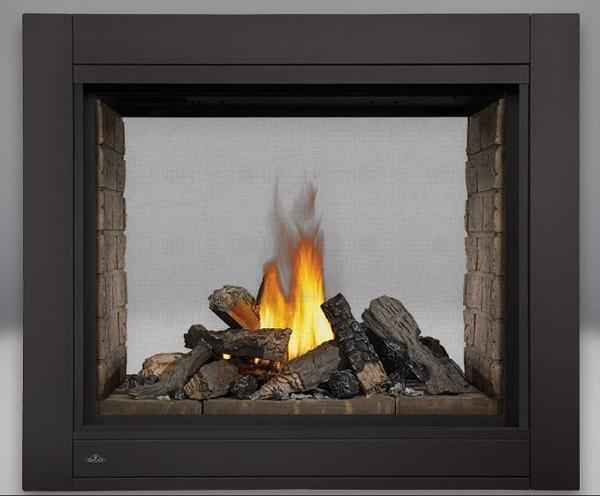 Napoleon Ascent Multi-View Direct-Vent See Thru Fireplace w/ Logs - Chadwicks & Hacks, Hamilton Ontario