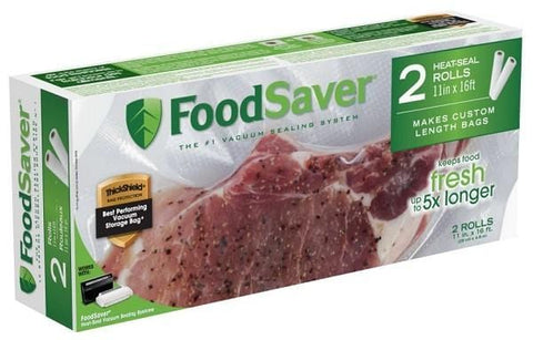 "FoodSaver 11""x16'' Heat-Seal Vacuum Sealer Roll (2-Pack)"