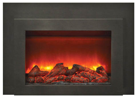 Amantii Deep Electric Insert w/ Black Steel Surround & Overlay - Chadwicks & Hacks, Hamilton Ontario
