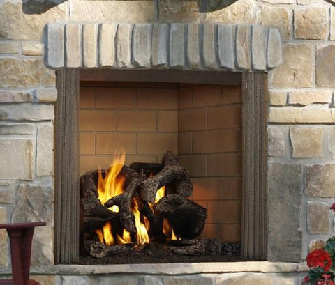 "Castlewood 42"" Outdoor Wood Fireplace - Chadwicks & Hacks, Hamilton Ontario"