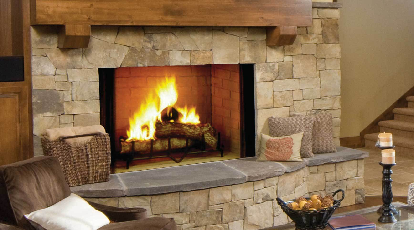 burning stacked majestic liner w monessen brick wood radiant fireplace products biltmore