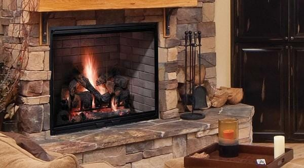 Majestic 42 Biltmore Radiant Wood Burning Fireplace w/ Herringbone Brick Liner - Chadwicks & Hacks, Hamilton Ontario