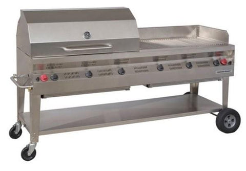 "Silver Giant 72"" Commercial BBQ"