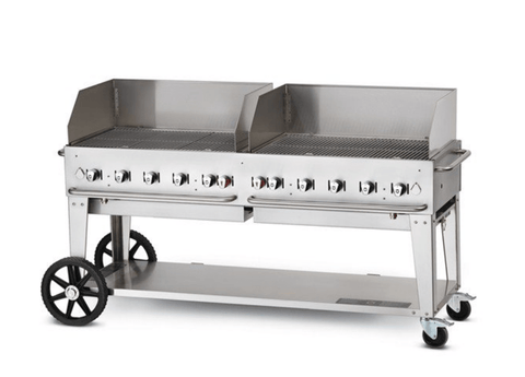 "Crown Verity 72"" Mobile Grill + WindGuards"