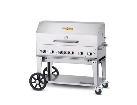 "Crown Verity 48"" Mobile Grill + RollDome Package"