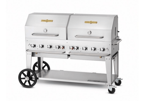 "Crown Verity 60"" Mobile Grill + RollDome Package"