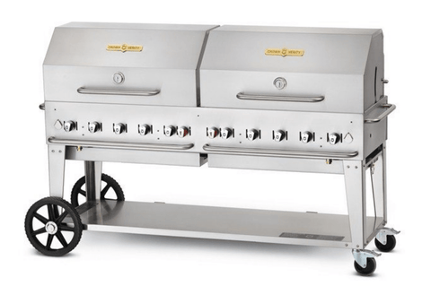 "Crown Verity 72"" Mobile Grill + RollDome Package"