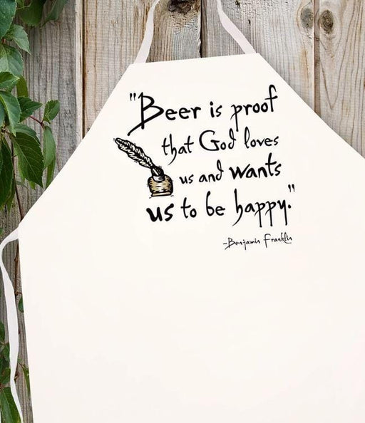 LA Imprints Attitude Apron - Beer is Proof - Chadwicks & Hacks, Hamilton Ontario