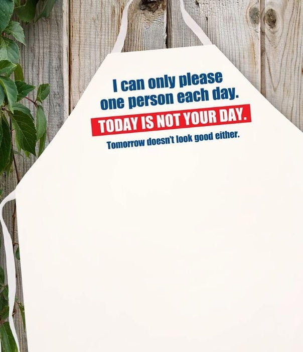 LA Imprints Attitude Apron - Today is not your day - Chadwicks & Hacks, Hamilton Ontario