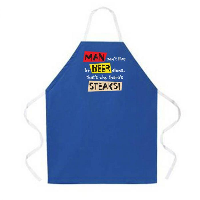 LA Imprints Attitude Apron - Live by Beer Alone