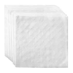 "Choice Napkin 1-Ply White 9"" x 9"" - Home Of Coffee"