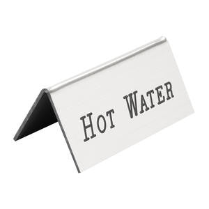 Beverage Tent Sign Silver Hot Water - Home Of Coffee