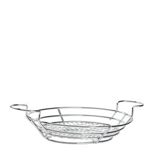 "Basket Oval Chrome 11"" x 8"" - Home Of Coffee"