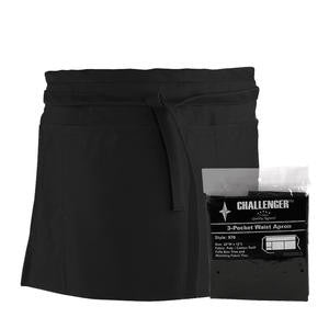Challenger® 3-Pocket Waist Apron Black - Home Of Coffee
