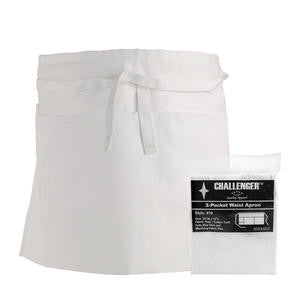 Challenger® 3-Pocket Waist Apron White - Home Of Coffee