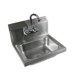 "Sink with Faucet Wall Mount 14"" x 10"" x 5"" - Home Of Coffee"