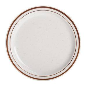 "Bahamas Plate Eggshell with Brown Speckle 9 1/2"" - Home Of Coffee"