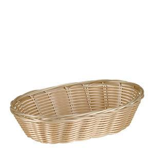 "Basket Oval Natural 9 1/2"" x 6"" x 2 1/4"" - Home Of Coffee"