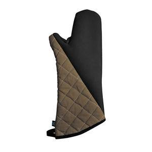 "BestGrip® Oven Mitt Black/Beige 17"" - Home Of Coffee"