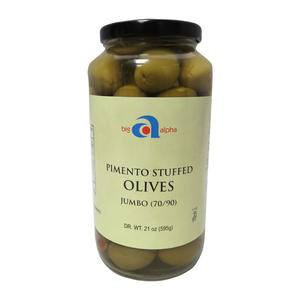 Big Alpha Olive Pimento Stuffed 70-90 - Home Of Coffee