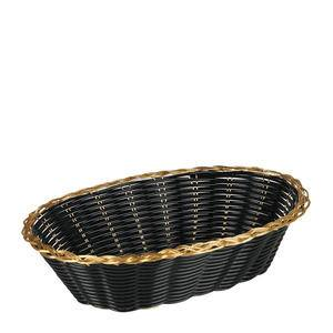 Bread Basket Oval Black with Gold - Home Of Coffee