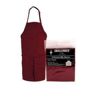 "Challenger® 3-Pocket Apron Burgundy 28"" x 30"" - Home Of Coffee"