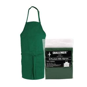 "Challenger® 3-Pocket Apron Hunter Green 28"" x 30"" - Home Of Coffee"