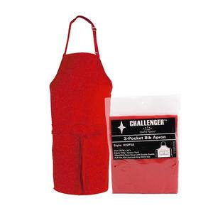 "Challenger® 3-Pocket Apron Red 28"" x 30"" - Home Of Coffee"