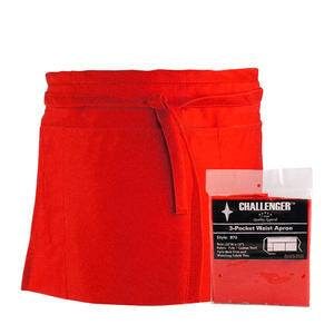 Challenger® 3-Pocket Waist Apron Red - Home Of Coffee