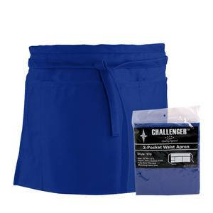 Challenger® 3-Pocket Waist Apron Royal Blue - Home Of Coffee