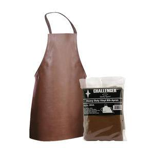 "Challenger® Apron Naugahyde Brown 26"" x 28"" - Home Of Coffee"