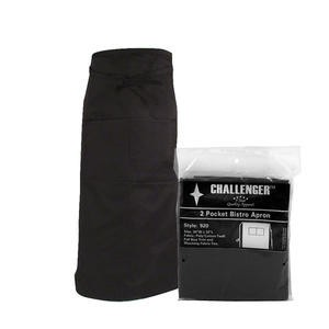 "Challenger® Bistro Apron Black 30"" x 32"" - Home Of Coffee"