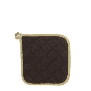 "Challenger® Terry Potholder Brown/Beige 8"" - Home Of Coffee"