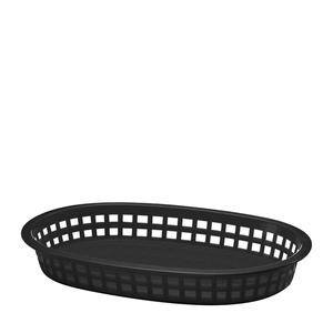 "Chicago Platter Basket Oval Black 10 1/2"" x 7"" x 1 1/2"" - Home Of Coffee"