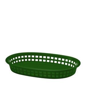 "Chicago Platter Basket Oval Green 10 1/2"" x 7"" x 1 1/2"" - Home Of Coffee"