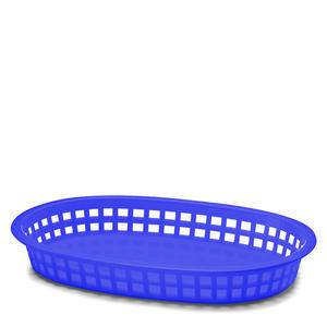 "Chicago Platter Basket Oval Royal Blue 10 1/2"" x7"" - Home Of Coffee"