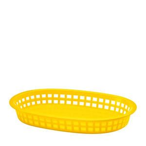 "Chicago Platter Basket Oval Yellow 10 1/2"" x 7"" x 1 1/2"" - Home Of Coffee"