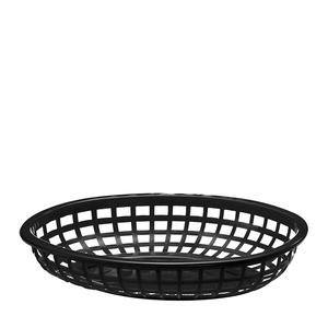 "Classic Oval Basket Black 9 3/8"" x 6"" - Home Of Coffee"