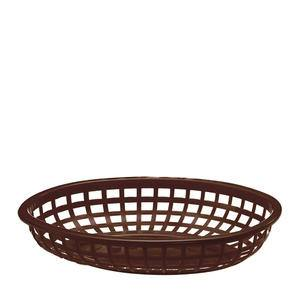 "Classic Oval Basket Brown 9 3/8"" x 6"" - Home Of Coffee"