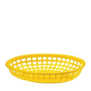 "Classic Oval Basket Yellow 9 3/8"" x 6"" - Home Of Coffee"