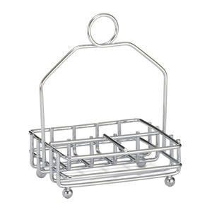 Combination Condiment Rack Chrome - Home Of Coffee