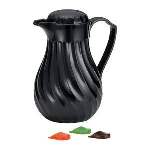 Connoisserve™ Swirl Decanter Twist Top Black 40 oz - Home Of Coffee