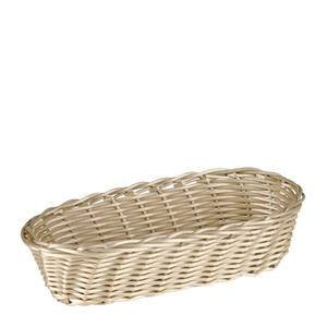 "Cracker Basket Oval Natural 9"" x 3 1/2"" - Home Of Coffee"