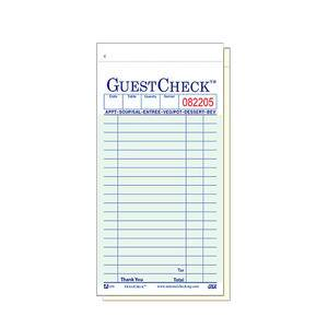 "Guest Check 3 1/2"" x 7"" - Home Of Coffee"
