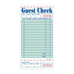 Guest Check Single - Home Of Coffee
